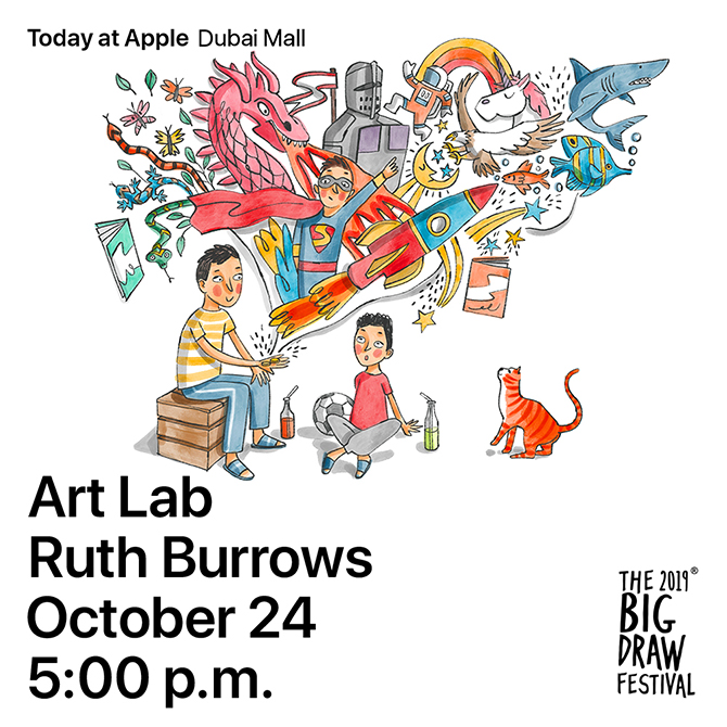 Learn from these UAE-based artists with Apple and The Big Draw (фото 2)