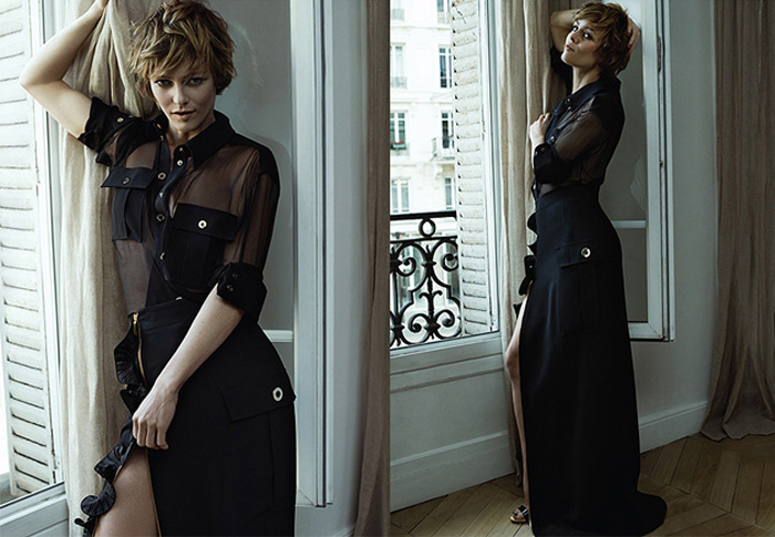 Vanessa Paradis shines in Net-a-Porter's The Edit (фото 5)