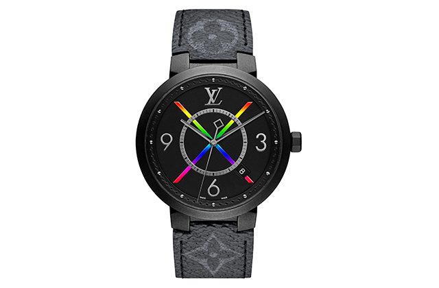 Virgil Abloh combines design and street art for Louis Vuitton's Tambour Slim Rainbow watch (фото 1)