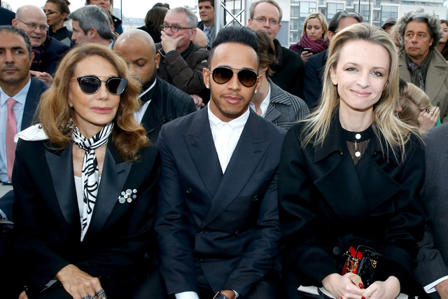 Kate Moss sits front row at Louis Vuitton menswear show in Paris