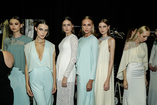 Backstage at Madiyah Al Sharqi Autumn/Winter 15