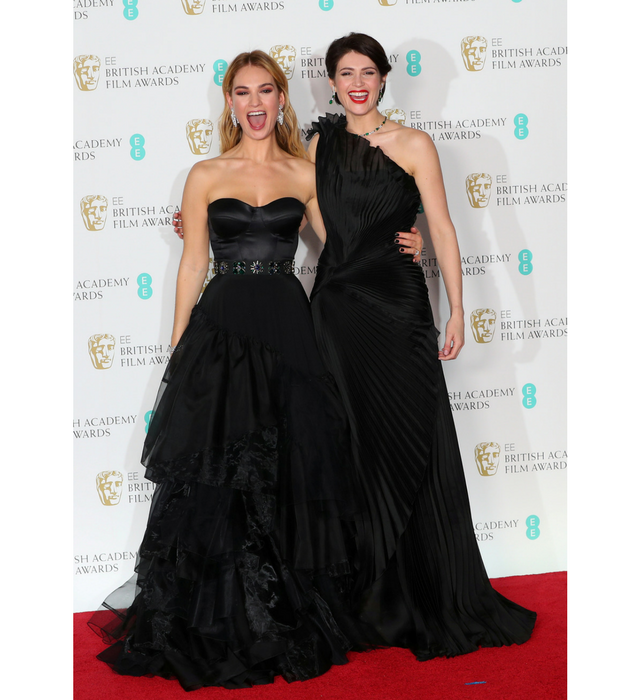 Lily James and Gemma Arterton