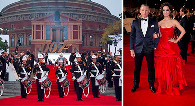 Skyfall World Premiere at The Royal Albert Hall, London October 2012