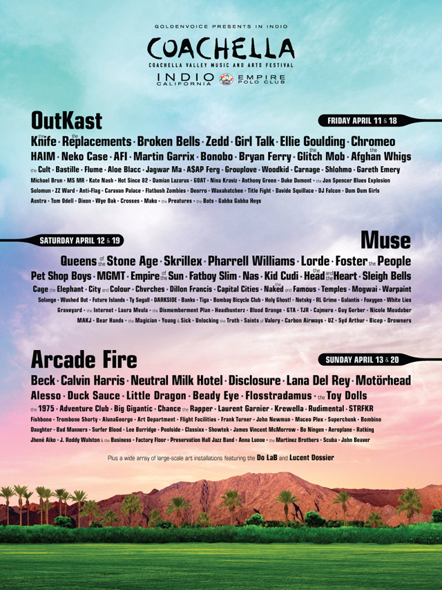 Coachella line up revealed