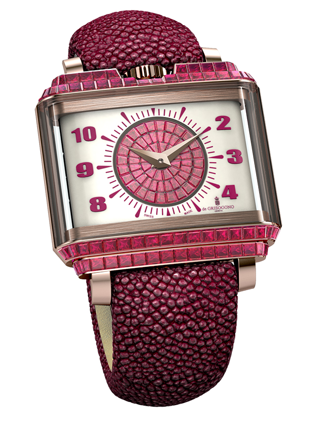 de GRISOGONO New Retro Lady watch with baguette-cut rubies