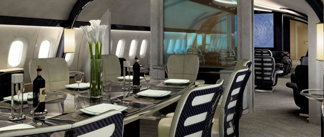 The luxuriously customised Boeing 787-900 Dreamliner