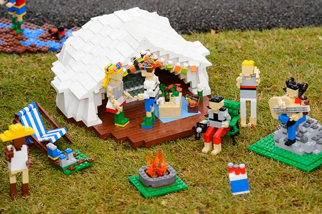 Glastonbury Recreated In LEGO