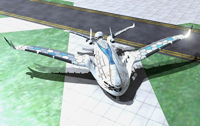 A HYDROGEN POWERED MEGA PLANE