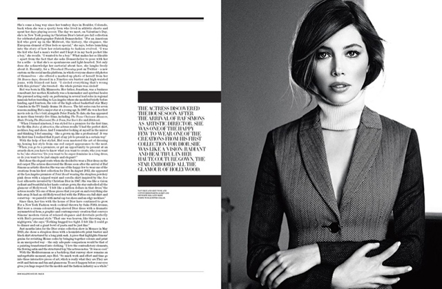 Jessica Biel shoots for Dior Magazine