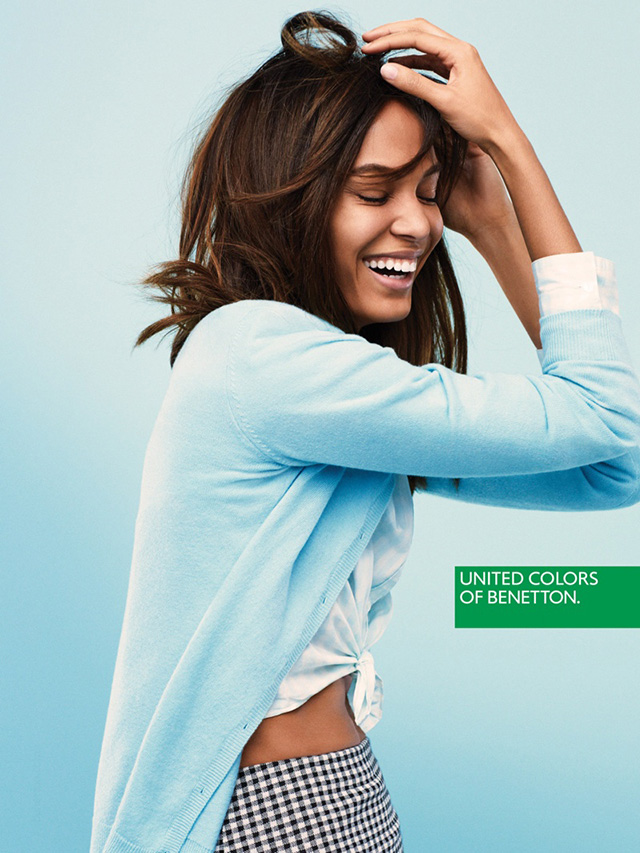 Joan Smalls is all smiles for United Colors of Benetton campaign
