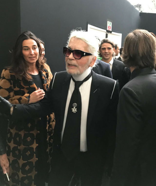 Karl Lagerfeld now has a beard