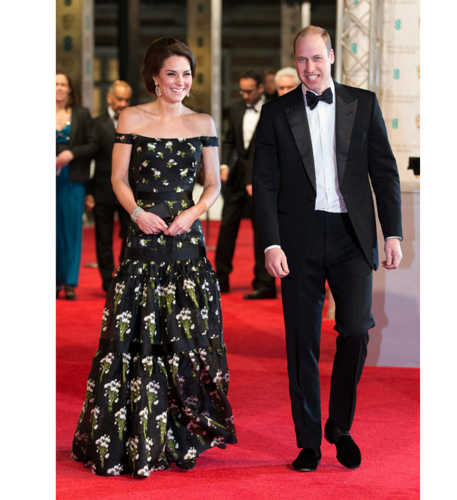Kate Middleton in Alexander McQueen at the 2017 BAFTAs