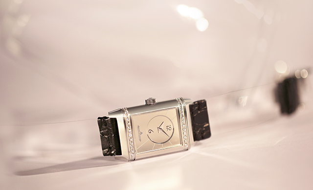 Jaeger-LeCoultre special edition Reverso piece by Christian Louboutin with plastic strap