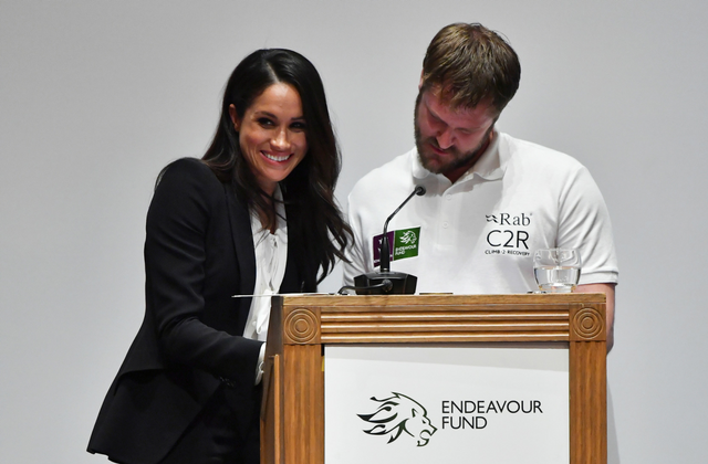 Meghan Markle inside the Endeavour Fund Awards