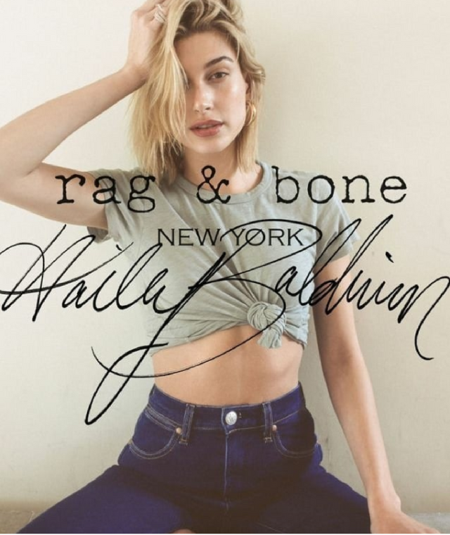 Hailey Baldwin for Rag & Bone