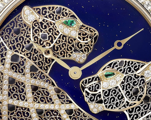 RONDE LOUIS CARTIER FILIGREE WATCH