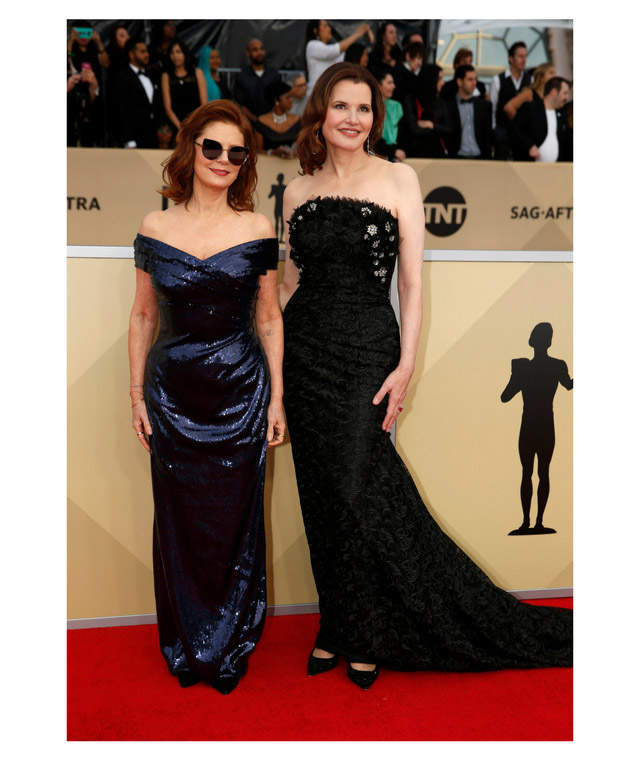 2018 SAG Awards Susan Sarandon and Geena Davis