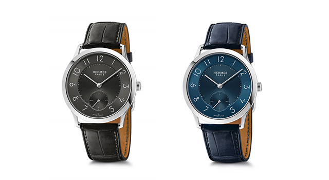 Slim d'Hermès Slate grey and midnight blue dial