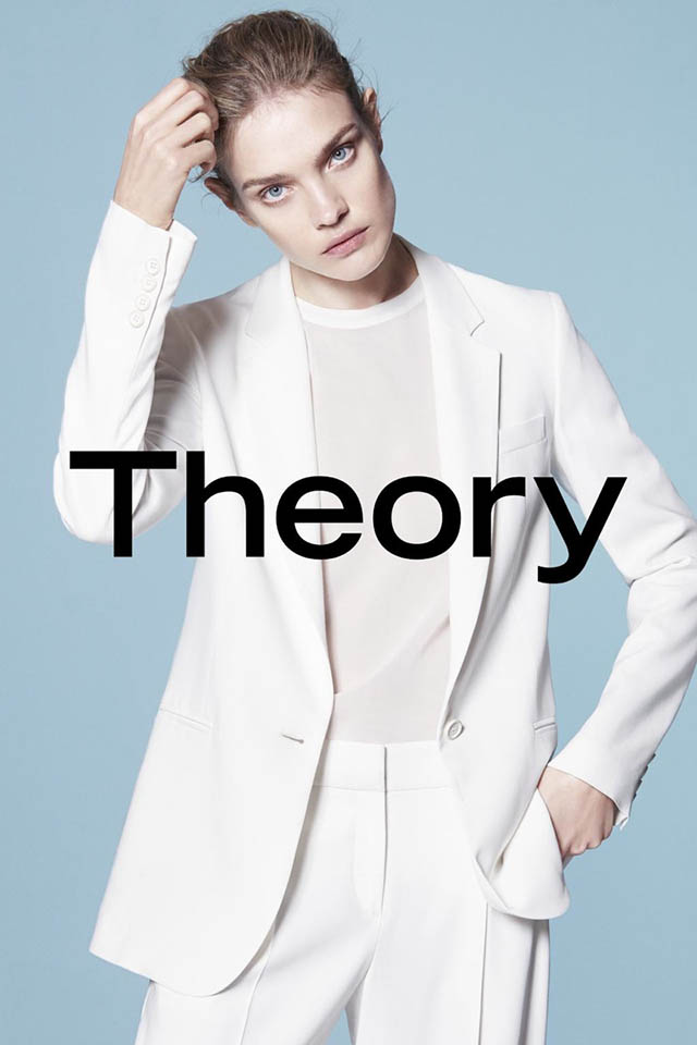 Natalia Vodianova fronts Theory's new SpringSummer 15 campaign