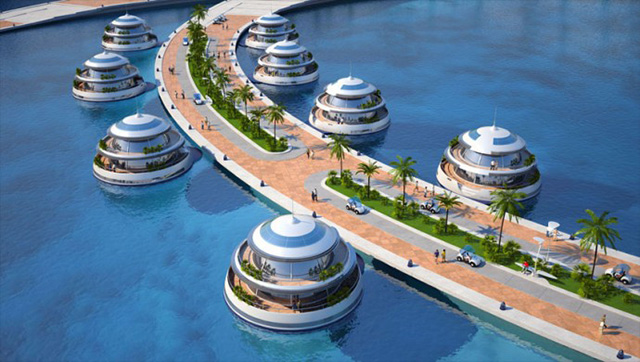 Wateriest Luxury Floating Homes on Here Home › Interesting Designs Luxury Yacht Interior
