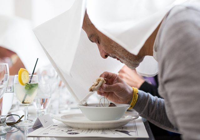 Art-inspired menu and setting at The Wedding Project