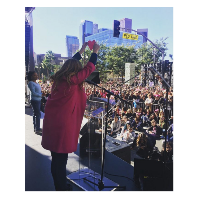 Connie Britton Women's March 2018