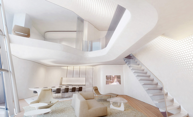 Zaha Hadid Unveils Interior Designs For Dubai Project