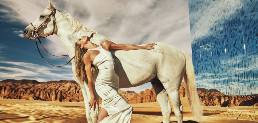 Lebanese designer Eli Mizrahi taps Kate Moss, Amber Valletta, Jourdan Dunn and more  to front a new campaign in Al Ula