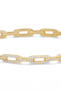 David Yurman Stax Chain Link Bracelet with Diamonds in 18K Gold, price upon request