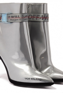 Off-White Silver For Walking Strap Ankle Boots, Dhs3,450
