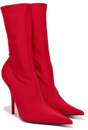Balenciaga Red Knife Spandex Ankle Booties, Dhs4,600