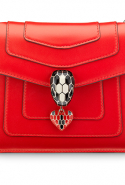 Bulgari Red Serpenti Forever Leather Shoulder Bag, Dhs10,400