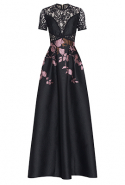 Elie Saab Floral Embroidered Lace Dress at Bysmphony, Dhs19,500
