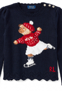Polo Ralph Lauren Skate Polo Bear Cotton Sweater, Dhs575