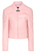 Vetements exclusive pink leather jacket on mytheresa.com, Dhs15,595