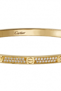 Cartier Love Bracelet in yellow gold with diamonds,  Dhs142,000