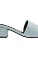 Alexander Wang Lou denim sandals at Level Shoes, Dhs1,630