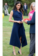 Day three: Meghan wears Dion Lee dress