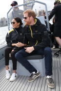 Day six: Meghan wears Invictus Games merchandise jacket, Veja V-10 sneakers and Krewe sunglasses