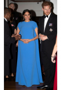 Day eight: Meghan wears SAFiYAA gown