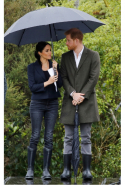 Day 15: Meghan wears Karen Walker jacket and The Much Boot Company boots