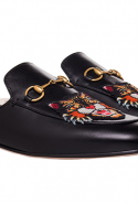Gucci Princetown Embroidered Leather Loafers available on BySymphony.com, Dhs2,855