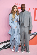 Gigi Hadid and Virgil Abloh in Louis Vuitton