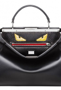 Fendi Peekaboo crocodile-trimmed leather and python tote, Dhs13,955