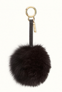Fendi Pompom Charm in black fur, Dhs1,470