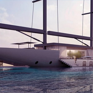 Architect Lujac Desautel designs luxury glass yacht
