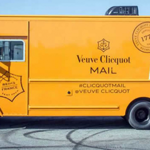 Introducing the Veuve Clicquot mail truck