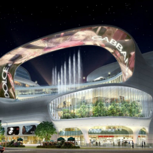 The Chinese mall design that incorporates its own water channel