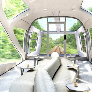 The luxury sleeper train by Ferrari designer Ken Okuyama