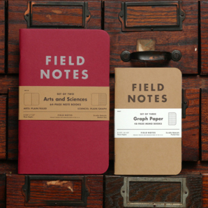 Field Notes launch limited edition Arts & Sciences notebooks